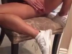 blonde milf playing her pussy