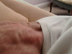 long hairy pubes hanging out of her white pantys,feet