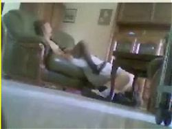 Hidden cam catches mum and dad home alone having fun