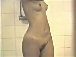 Classic hot college hidden shower voyeur. Refurbished+Slowmo
