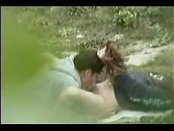 VOYEUR ON THE BITCH 12 young couple fuck outdoor