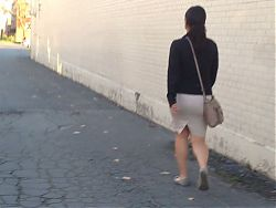 quebecoise candid walking ass